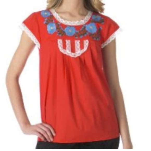 Tracy Feith Tops - Tracy Feith for Target Embroidered Cap Sleeve Top